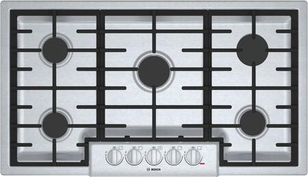 Bosch 800 Series NGM8656UC Gas Cooktop Stainless Steel, Main View