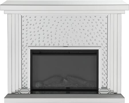 Acme Furniture Nysa 90204 Fireplace Silver, Fireplace