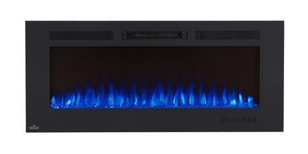 Napoleon Allure Phantom NEFL50FHMT Fireplace Black, Shown with Blue Flame