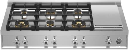 Bertazzoni Professional PROF486GRTBXTLP Gas Cooktop Stainless Steel, PROF486GRTBXT Gas Rangetop