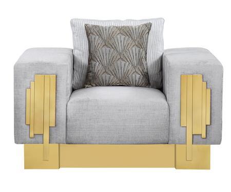 Cosmos Furniture Megan 3037GRMEG Living Room Chair Gray, DL 3d705d20b4d7f86b124a01e3c4e3