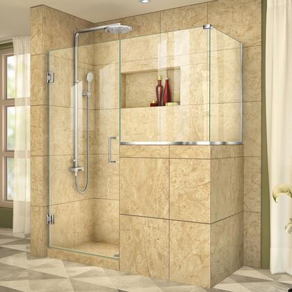DreamLine  SHEN242424343001 Shower Enclosure , UnidoorPlus Shower Door 39 30D 30BP 30RP 01