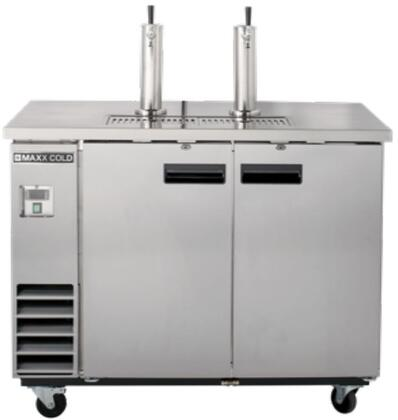 MXBD48-2S 48″ X-Series Keg Cooler with 10.5 cu. ft. Capacity  Dual Towers  4″ Casters and Self-Contained Forced Air Refrigeration System in Stainless