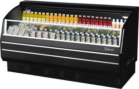 Turbo Air TOM75SBSPN Display and Merchandising Refrigerator Black, TOM75SBSPN Angled View