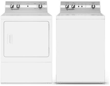 Speed Queen  1398984 Washer & Dryer Set White, 1