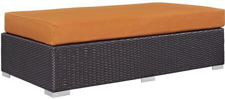 Modway Convene EEI1847EXPORA Patio Ottoman Orange, EEI-1847-EXP-ORA Side