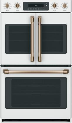 """Cafe 30"""" Matte White Built-In Double Convection Wall Oven"""