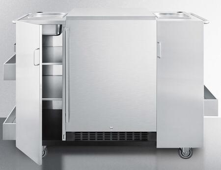 Summit  CARTOSRF Compact Refrigerator Stainless Steel, Main Image