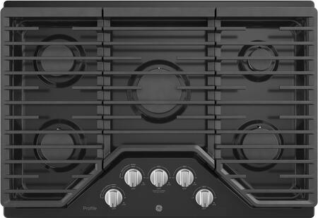 GE Profile PGP7030DLBB Gas Cooktop Black, Main Image