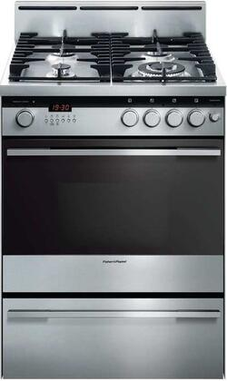 Fisher Paykel OR24SDMBGX2 Freestanding Gas Range Stainless Steel, Main Image