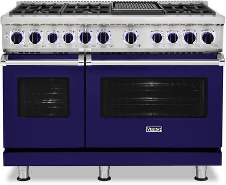 Viking 7 Series VDR74826GCBLP Freestanding Dual Fuel Range Blue, VDR74826GCBLP Dual Fuel Range