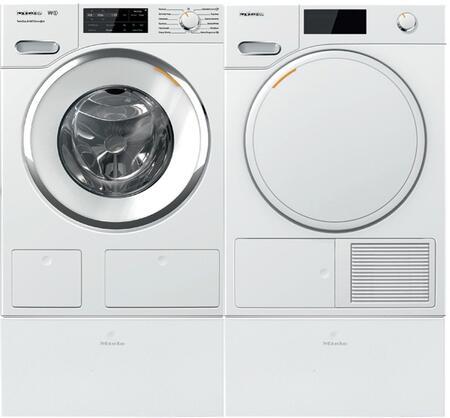 Miele  1005787 Washer & Dryer Set White, Main Image