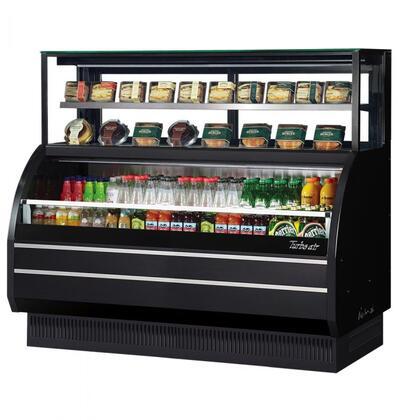 Turbo Air TOMW60SBUFN Display and Merchandising Refrigerator Black, TOMW60SBUFN Angled View