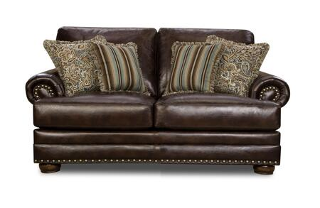 Chelsea Home Furniture Iowa 529002LCH Loveseat Brown, Main Image