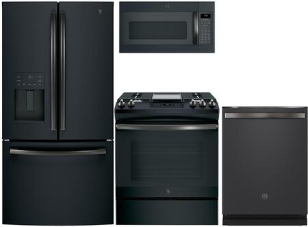 GE  975532 Kitchen Appliance Package & Bundle Black Slate, main image