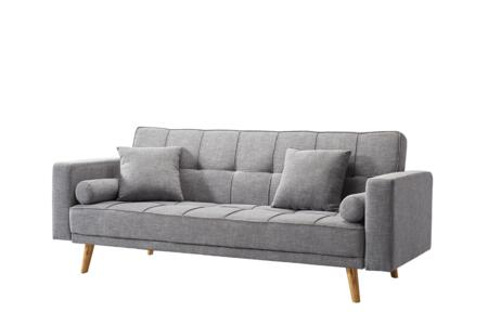 116SOFABED 83″ Sofa Bed with Tufting Details  Track Arms and Fabric Upholstery in
