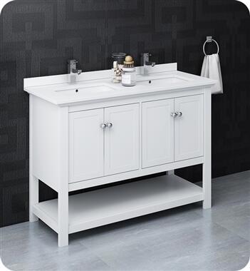Fresca Manchester FCB2348WHDCWHU Sink Vanity White, FCB2348WH D CWH U 2T