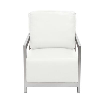 """Zen_ZENCHWH_27""""_Accent_Chair_with_Stainless_Steel_Frame__Bonded_Leather_Cushion_and_Ladder_Back_in"""