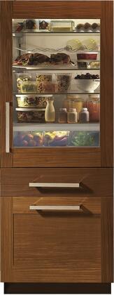 Monogram  ZIK30GNNII Bottom Freezer Refrigerator Panel Ready, ZIK30GNNII Front View