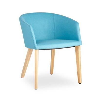 Barclay Collection 100-BT-01-W-C-CUZ02 Chair with Wood Base-Dark