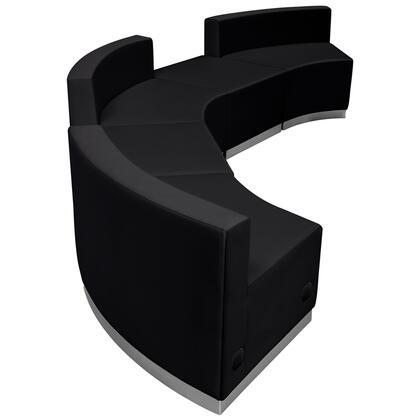 Flash Furniture Hercules Alon ZB803810SETBKGG Sectional Sofa Black, ZB803810SETBKGG side