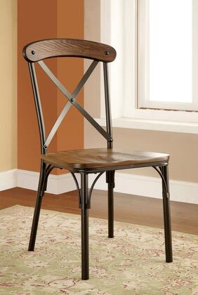 Furniture of America Crosby CM3827SC2PK Dining Room Chair Brown, Main Image