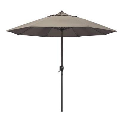 Casa Collection ATA908117-5461 9′ Patio Umbrella With Bronze Aluminum Pole Aluminum Ribs Auto Tilt Crank Lift With Sunbrella 1A Taupe