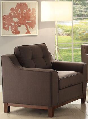 Acme Furniture Stellan 52842 Living Room Chair Brown, 1