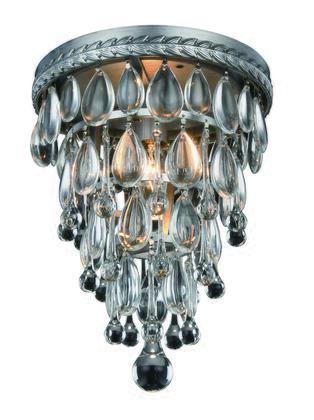 Elegant Lighting 1219F9ASRC Ceiling Light, Image 1
