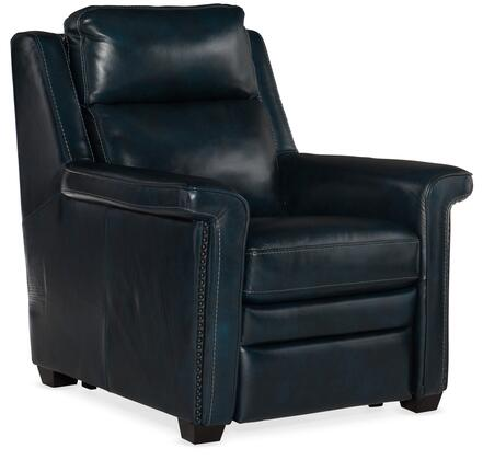 Hooker Furniture MS Series SS448P1PH045 Recliner Chair Blue, Silo Image