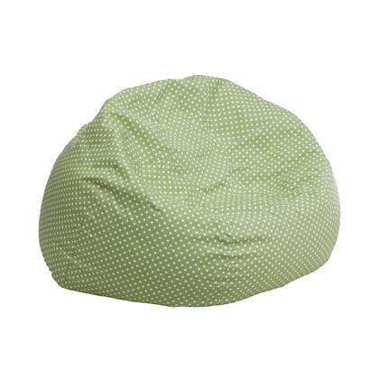 Flash Furniture DGBEAN DGBEANSMALLDOTGRNGG Bean Bag Chair Green, DGBEANSMALLDOTGRNGG