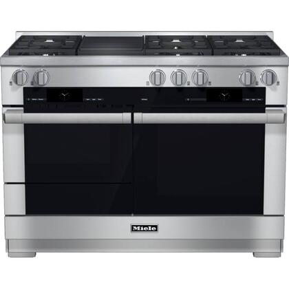 Miele M Touch HR19552DFGRG Freestanding Dual Fuel Range Stainless Steel, Main Image