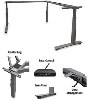 STRATOSPHERE-3 Sit-Stand Solutions with Height Adjustment Range  Low 58 Db Noise Level and Four Memory/Six Button Programmable Switch and