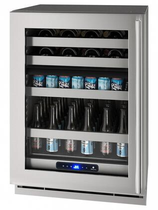 UHBD524SG51A 24″ 5 Class Dual-Zone Beverage Center with 5.1 cu. ft. Capacity  Digital Touch Pad Control and Convection Cooling System in Stainless