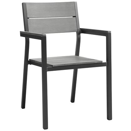Modway Maine EEI1506BRNGRY Patio Chair Gray, Main Image
