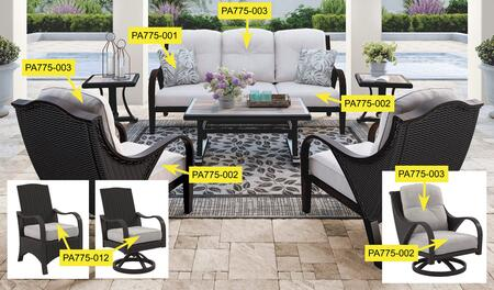 Signature Design by Ashley Marsh Creek PA775002 Cushion Option Gray, Main Image