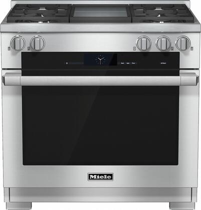 Miele M Touch HR1936DFGD Freestanding Dual Fuel Range Stainless Steel, hr1936dfgd 54