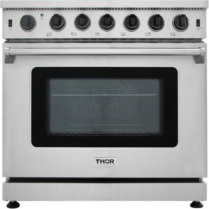 Thor Kitchen  LRG3601U Freestanding Gas Range Stainless Steel, Main Image
