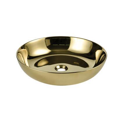 RYVYR Ceramic Vessel Sink CVE187RDGD Sink Gold, cve187rdgd
