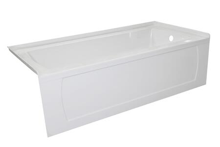 Valley Acrylic Signature Collection OVO6630SKDFRWHT Bath Tub White, Main Image