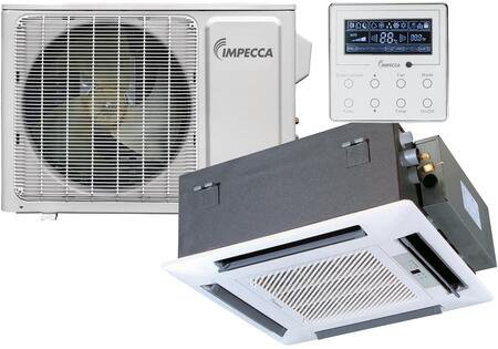 ISMI-C15S Fixed Series Single-Zone Mini Split System with 18 000 BTU Outdoor Unit  14 400 BTU Ceiling Cassette Indoor Unit and Wall
