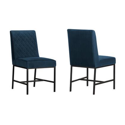 Armen Living Napoli LCNPSIBLU Dining Room Chair Blue, LCNPSIBLU set