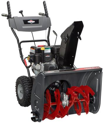1696610 24″ Dual Stage Snowblower with SnowShredder Notched Steel Auger  Electric Start  9.5 TP  Push Button Electric Start  208 cc  13″ x 5″ Wheels