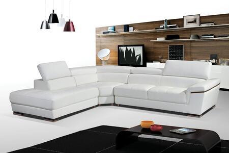 ESF I17278 Sectional Sofa White, Main Image