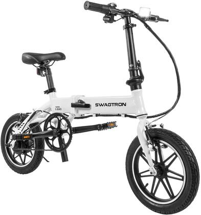 EB5WHT 14″ Folding Electric Bike with 15.5 Mile Range  Height Adjustable and Accommodates Up To 264 lbs. in
