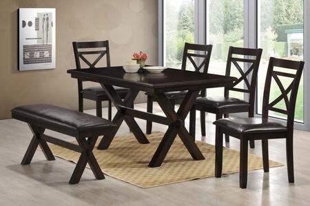 Lane Furniture Austin 5009590102 Dining Room Set Black, 5009 Austin