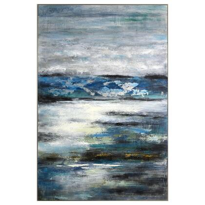 Abstract Series 3230029 Azzurro 40″ x 60″ Acrylic Painting in Multi
