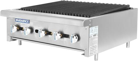 Radiance  TARB30 Commercial Charbroiler Stainless Steel, TARB30 Angled View