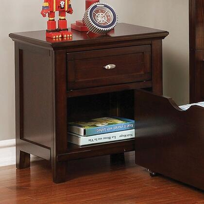 Furniture of America Brogran CM7517CHN Nightstand Brown, CM7517CH-N