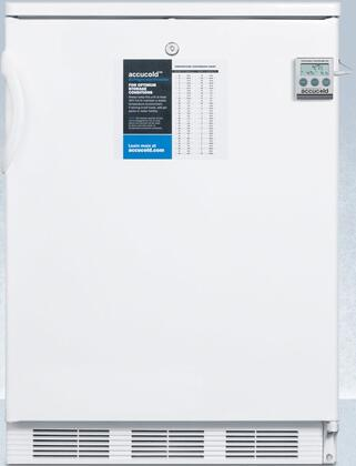 CT66LPLUS2 24″ Compact Refrigerator with 5.1 cu. ft. Capacity  Factory Installed Lock  Cycle Defrost and Dual Evaporator Cooling in